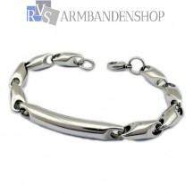 Rvs stalen armband 21.5 cm.