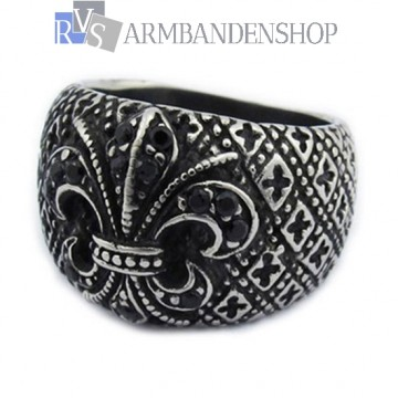 Rvs Flower ring.