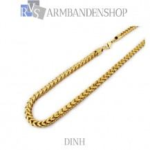 "RVS Gold-color ketting Dinh""  59 cm."""