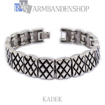 "Rvs armband ""Kadek"" 21.5 cm."