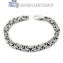 Rvs koningsschakel armband 21,1 cm.