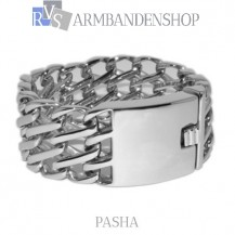"Rvs armband  Pasha"" 22,5 cm."""