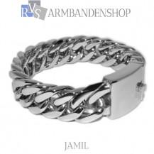 "Rvs stalen armband ""Jamil""."