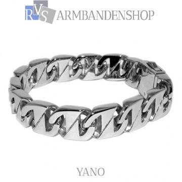 "Rvs stalen armband ""Yano""."