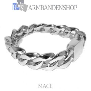 "Rvs armband  ""Mace"" 22 cm."
