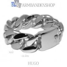 "Mat en glans rvs armband geborsteld staal ""Hugo""."