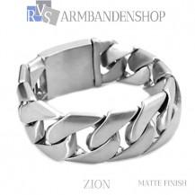 "Rvs armband  MAT RVS  Zion"" 21,0 cm."""