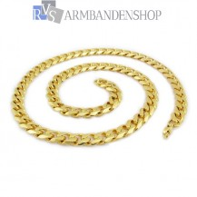 "RVS Gold-color ketting ""Danel""."