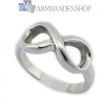 Rvs infinity ring.