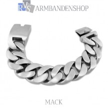 "Matte rvs armband geborsteld staal ""Mack""."