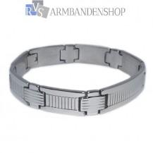 Rvs heren schakel armband 20.8 cm.