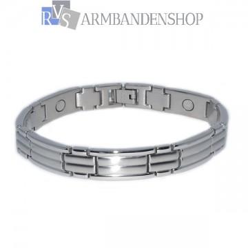 Rvs magnetische armband 21 cm.