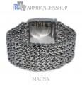 """Rvs armband """"Magna"""" 21.8 cm."""