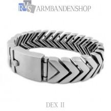 """Matte rvs armband geborsteld staal  """"Dex II""""."""