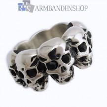 Rvs Multi Skull ring