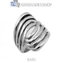 Rvs dames ring  Bari.