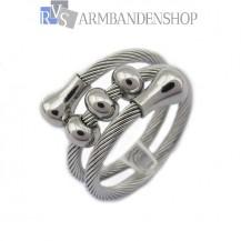 Rvs verstelbare wire ring