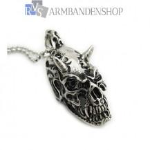 Rvs skull hanger