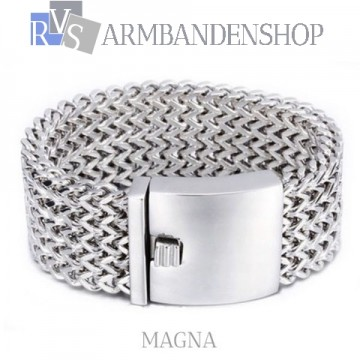 "Rvs armband ""Magna""."