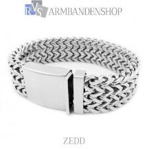 "Rvs armband ""Zedd"" ."