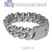 "Matte rvs armband geborsteld staal ""Tarek II"""