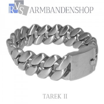 "Matte rvs armband geborsteld staal ""Tarek II""."