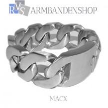 """Matte rvs heren armband geborsteld staal  """"Macx""""."""
