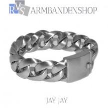"Matte rvs armband geborsteld staal ""Jay Jay""."