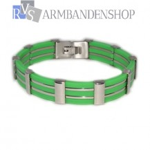 RVS armband groen.