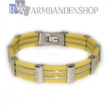 RVS armband geel.
