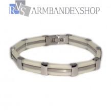RVS armband wit.