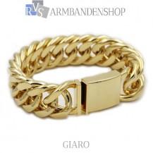 Rvs Gold plated armband Giaro.