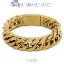Rvs Gold plated armband Xario.
